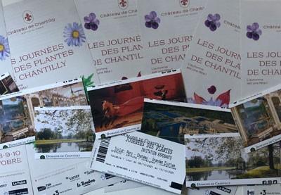 Une invitation offerte pour une livraison au stand des Journées des plantes de Chantilly !